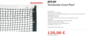 Tennisnetz Court Plus
